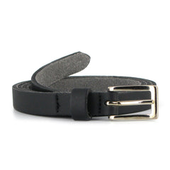 Vegetarian Shoes Skinny Belt - Black
