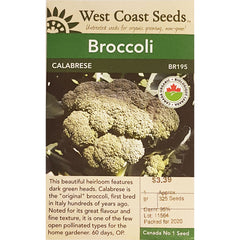 West Coast Seeds Organic Calabrese Broccoli Seeds - 1g