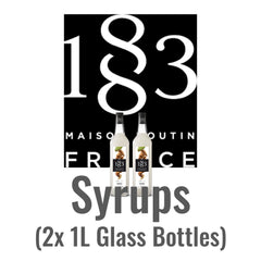Wholesale - 1883 Syrups 2x 1L (Glass)