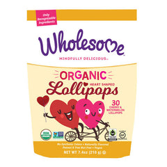 Wholesome Organic Heart Shaped Lollipops - 210g