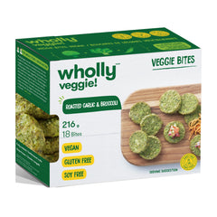 Wholly Veggie Herby Garlic & Broccoli Bites - 216g