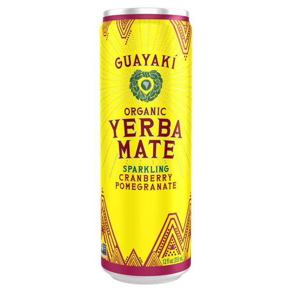 Guayaki Yerba Mate Sparkling Cranberry Pomegranate Can - 355ml