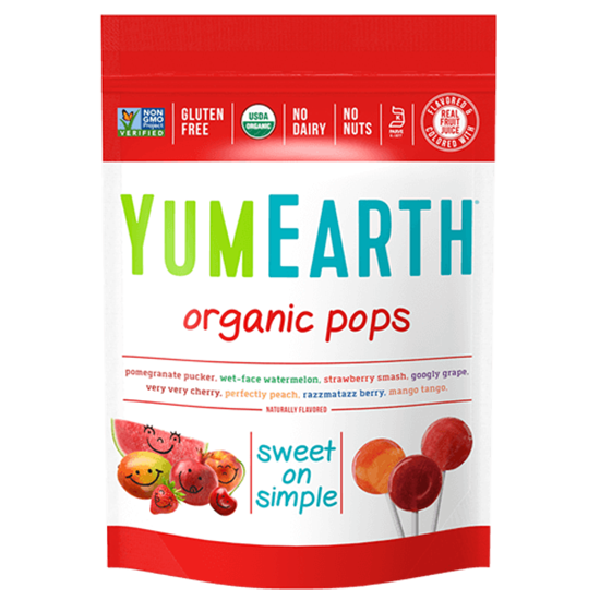 YumEarth Organic Assorted Lollipops - 241g