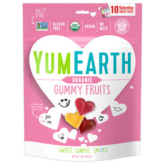 YumEarth Organic Fruit Gummy Hearts - 198g