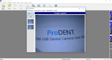 Prodent camera setting for apeteryx