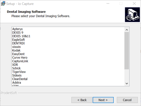 dental software list for ProDENT CAPTURE