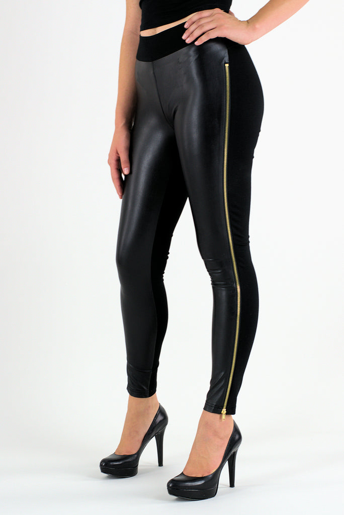 156184923b27c8 Black Side Zip Leggings – Hotter Image - Top Brands and Latest Fashions