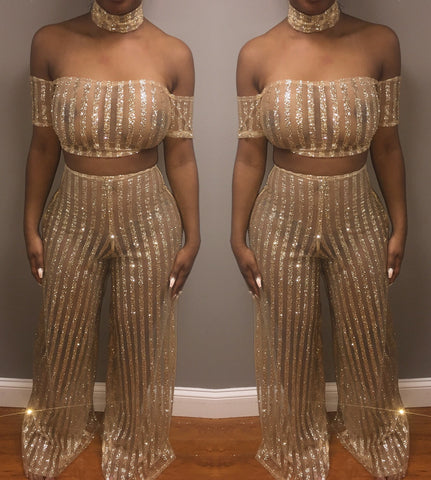 Blurred Lines Pants Set