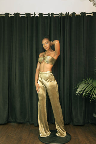 Golden Girl Pants Set