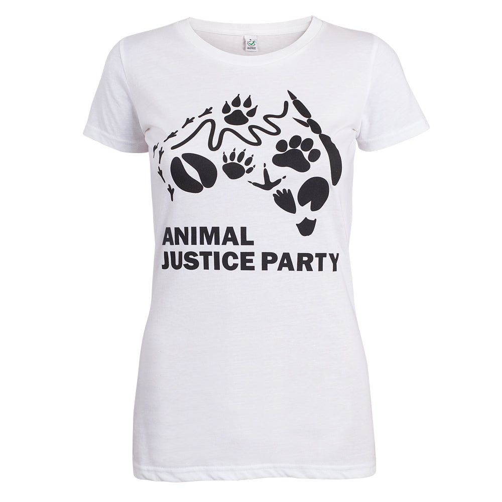 Women's Fitted T-Shirt in Black and White