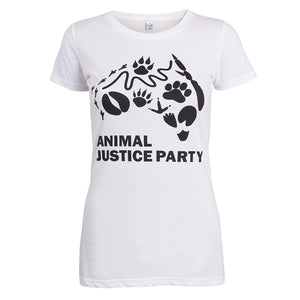 NEW! Fitted Women's T-Shirt in Black or White