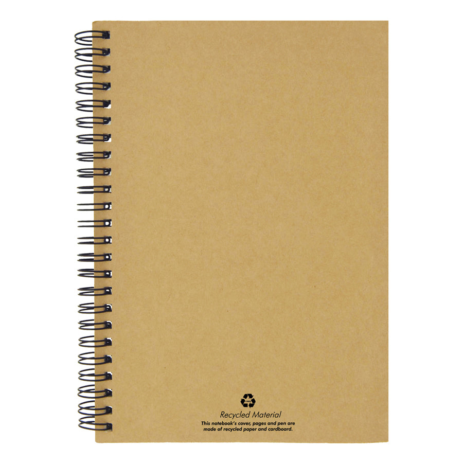 A5 Recycled Paper Notebook and Pen