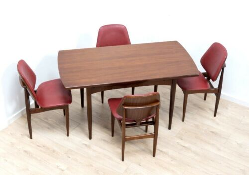 Mid Century Vintage Teak Elliott's Of Newbury Extending Dining Table Chairs 879