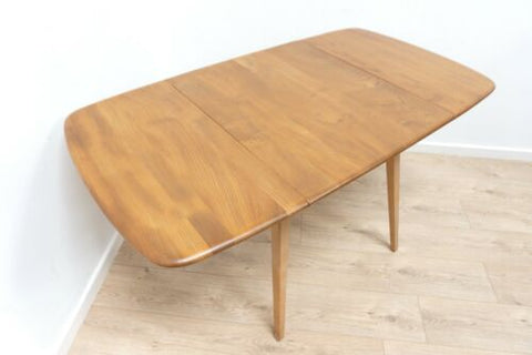 Midcentury Vintage Ercol Plank Table Blonde Drop Leaf 1960's /1638