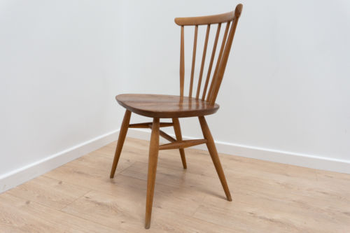 Mid Century Vintage Ercol Model 333 Dining Chair with Oyster Elm Seat