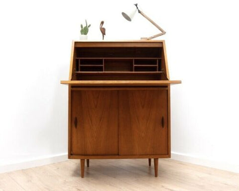 Mid Century Vintage Retro Teak Bureau Desk with Storage 1960's /711