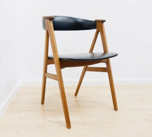 Terrific Stunning Mid Century Danish Vintage Teak Desk Elbow Chair 1950S 795 Caraccident5 Cool Chair Designs And Ideas Caraccident5Info