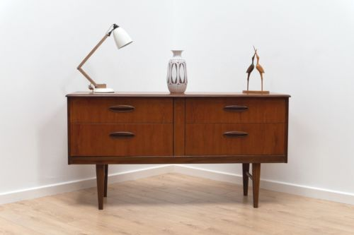 Superb Mid Century Vintage Teak Sideboard Console with Drawers 1960's