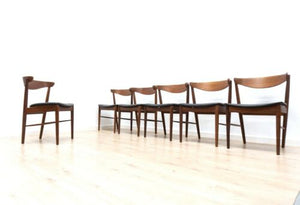 Superb Set of 6 Mid Century Danish Vintage Teak Dining Chairs 1950's /1363