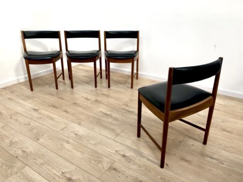 Mid Century Vintage Teak A H McIntosh Round Dining Table And 4 Chairs 1960's