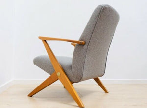 Superb Mid Century Vintage Swedish Oak Bengt Ruda for Triva Lounge Arm Chair 767