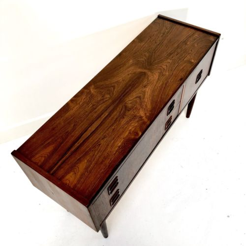 Superb Mid Century Danish Rosewood Console Cupboard Storage Drawers