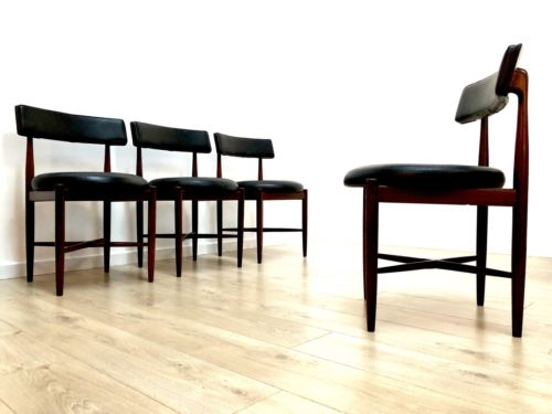 G Plan Vintage Teak Round Extending Dining Table & 4 Kofod Larsen Chairs