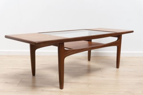 Mid Century Vintage Teak G Plan Coffee Table With Magazine Rack 1960's