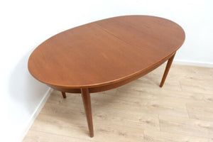 Midcentury Vintage Teak Jentique Extending Dining Table & 4 Dining Chairs /1601