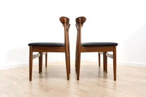 Set of 4 Kofod Larsen Danish Mid Century Vintage Teak Dining Chairs /924