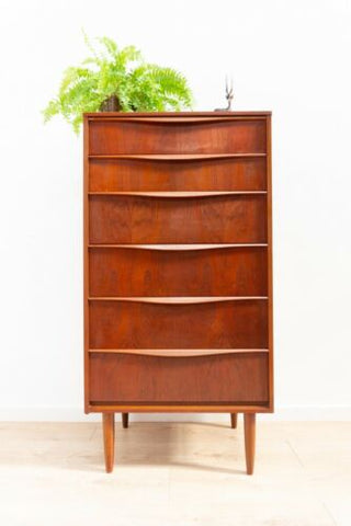 Mid Century Vintage Teak Austinsuite Tallboy Chest Of 7 Drawers 1960's /1206
