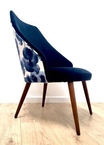 Vintage Danish Occasional Chair Bedroom Chair In Velvet Newly Upholstered