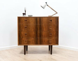 Rare Mid Century Vintage Danish Rosewood Horsens Chest Of Drawers 1950's /710