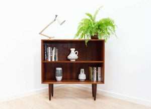 Stylish Mid Century Vintage Danish Rosewood Bookcase Shelving Unit /1035