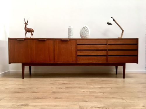 Danish Credenza For Sale : Superb mid century vintage danish teak large sideboard credenza