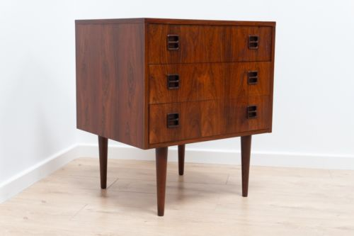 Stunning Mid Century Vintage Danish Rosewood Chest Of 3 Drawers