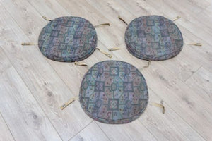 3 Original Ercol Windsor Dining Chair Seat Cushion Pads and Covers FREE P&P /106