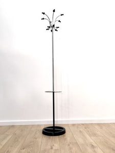 Original Retro Vintage Eames Atomic Sputnik Coat Stand Black And Chrome 1950's