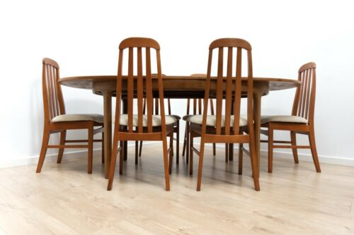 Midcentury Vintage Teak Nathan Dining Table & 6 Dining Chairs 1960's/1603