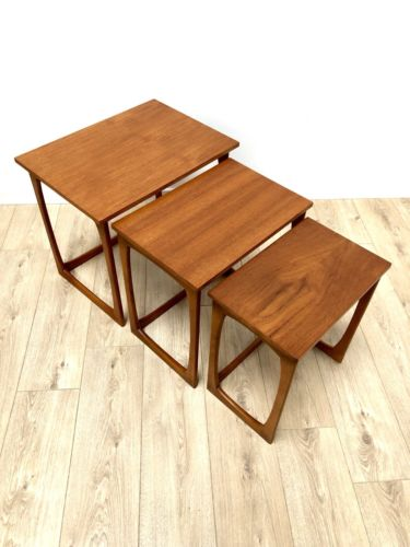 Stunning Mid Century Danish Vintage Teak Nest Of Coffee Tables 1960's