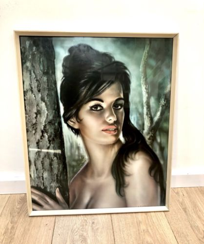 Original Mid Century Framed Signed Print Tina by J H Lynch 1961 Tretchikoff Era