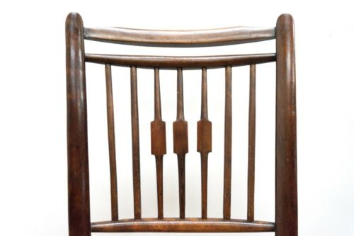 Antique Victorian Bentwood Occasional Chair Rush Seat /1503