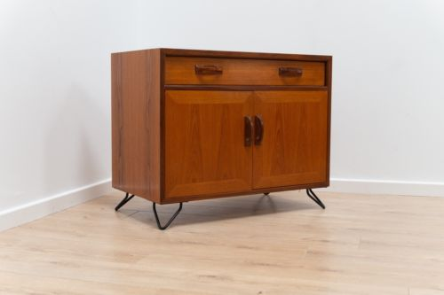 Mid Century Vintage G Plan Fresco Teak Cupboard TV Media Unit With Hairpin Legs