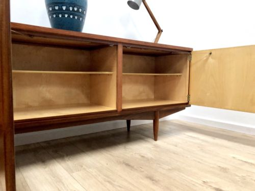 Rare Mid Century Vintage Teak And Maple Modernist Sideboard 1960's