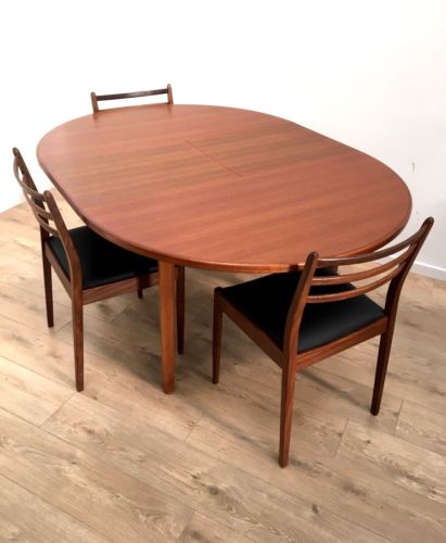 Stunning McIntosh Vintage Teak Extending Dining Table And 4 G Plan Dining Chairs