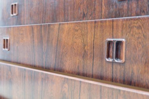 Mid Century Vintage Danish Horsens Mobelfabrik Rosewood Chest Of Drawers /438