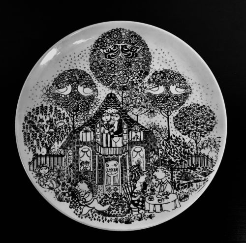 Bjorn Wiinblaad Nymolle Denmark Large Ceramic Wall Plate Signed Dated 1978