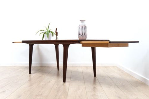 Stunning Mid Century Vintage Swedish Teak & Rosewood Extending Coffee Table /455