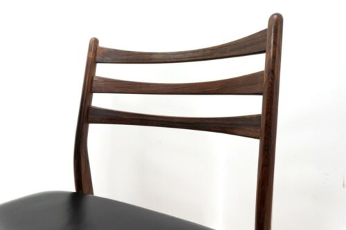 Rare Set of 6 Mid Century Danish Vintage Rosewood Dining Chairs 1950's /1370