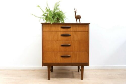 Stylish Mid Century Vintage Teak Chest Of 4 Drawers 1960's /1068